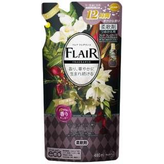 FLAIR FRAGRANCE(フレア フレグランス) ヴェルベットフラワーの香り つめかえ用 480ml 〔柔軟剤〕