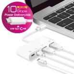 USBHUB3.1/Gen2//Type-C/ホワイト U3HC-A424P10WH [USB Power Delivery対応]