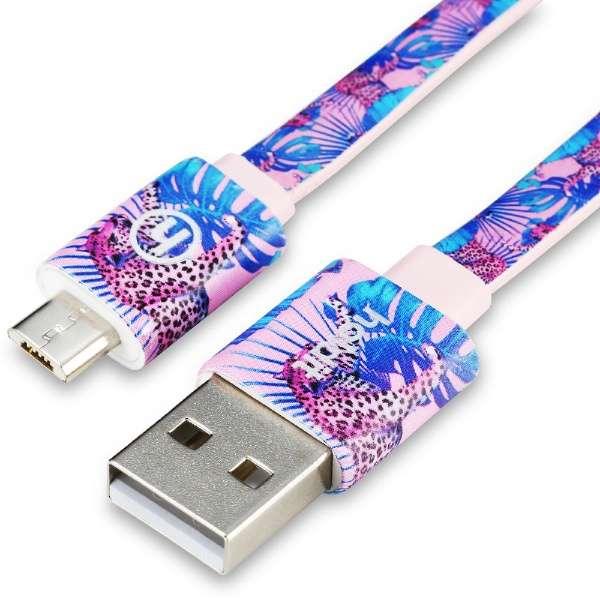 [micro USB ⇔ USB-A]充電USBケーブル Barcelona 2m デザイン Tropicat 13657 [2.0m]