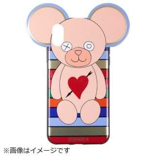 iPhone X TPU Teddy Heart&Arrow Multicolor Stripes