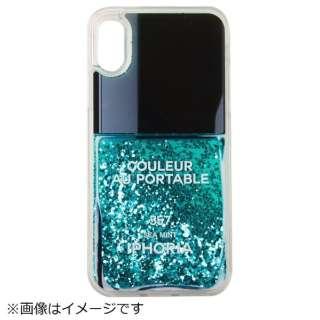 iPhone X TPU Nail Polish Turquoise