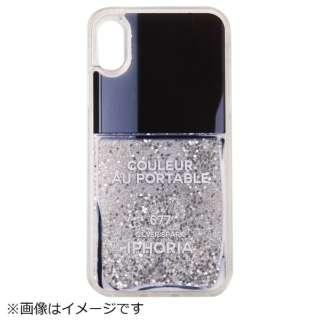 iPhone X TPU Nail Polish Grey