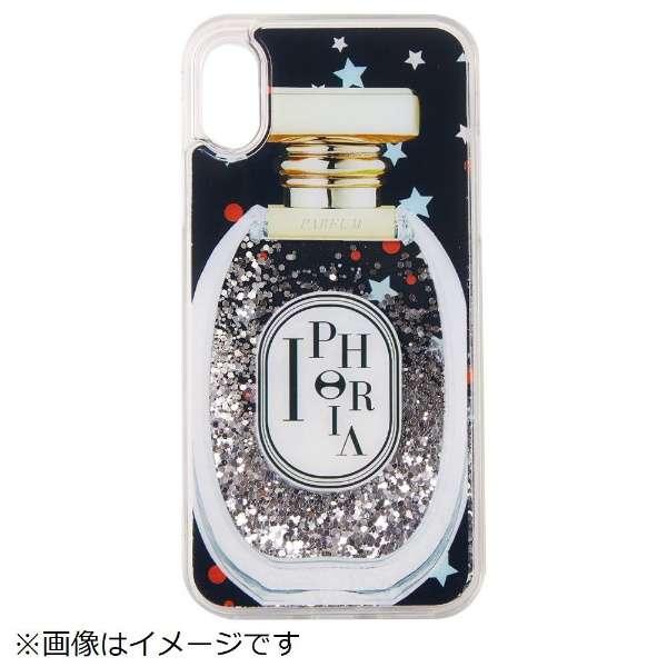 iPhone X TPU Perfume Round Black Little Stars