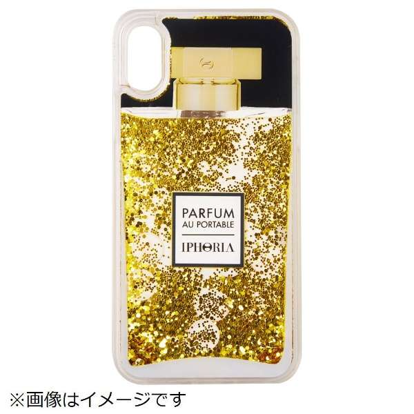 iPhone X TPU Perfume Golden Glitter