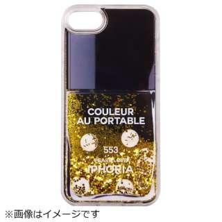 iPhone SE(第2世代)/7/8 対応 TPU Nail Polish Bk with Gd Glitter