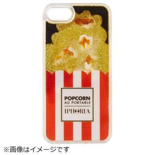 iPhone SE(第2世代)/7/8 対応 TPU Popcorn Red and White stripes