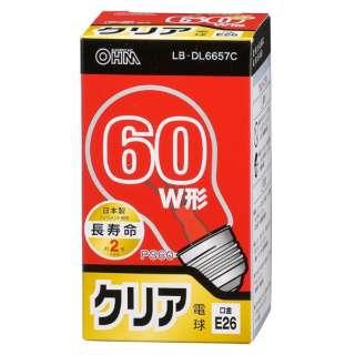 LB-DL6657C 白熱電球 長寿命 クリア [E26 /1個 /60W相当 /一般電球形]