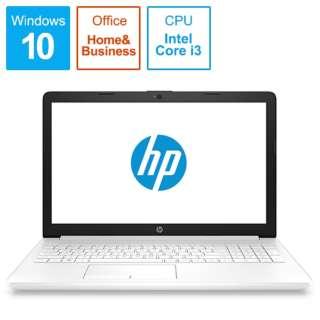 HP 15-da0089TU-OHB 4QM57PA-AAAB ピュアホワイト [intel Core i3 /メモリ:8GB]