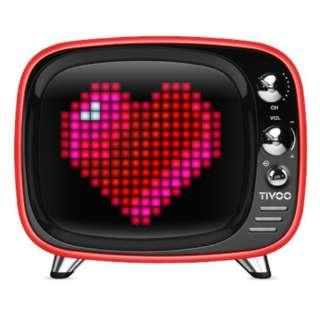 DIV-TIVOO-RD ブルートゥース スピーカー レッド [Bluetooth対応]