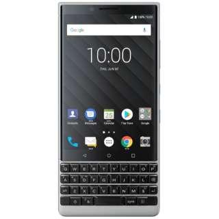 KEY2 シルバー 「BBF 100-8」 Android 8.1 4.5型 メモリ/ストレージ:6GB/64GB nanoSIM×2 DSDS対応 ドコモ/au/ソフトバンクSIM対応 SIMフリースマートフォン BBF1008 シルバー