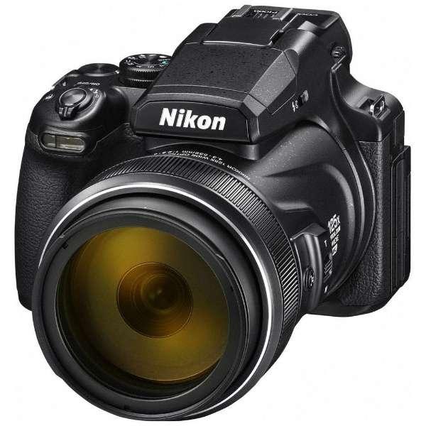 小型的数码照相机COOLPIX(酷的P.I.C.S)P1000黑色