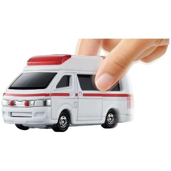 トミカ4D No.06 トヨタ ハイメディック救急車