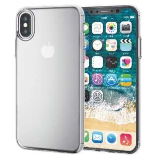 iPhone XS 5.8インチ用  ソフトケース 薄型 PM-A18BUCUCR