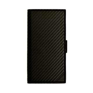 iPhone XR 6.1インチ用 カーボン手帳型ケース 4366IP861BO ブラック
