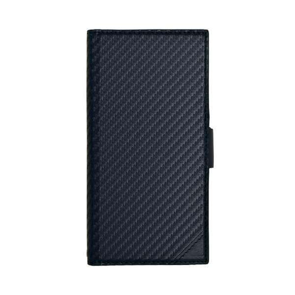 iPhone XR 6.1インチ用 カーボン手帳型ケース 4367IP861BO ネイビー