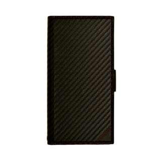 iPhone XR 6.1インチ用 カーボン手帳型ケース 4368IP861BO レッド