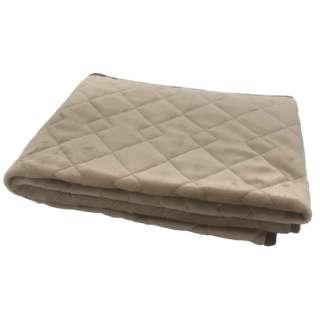 【敷きパッド】フランネル敷きパッド ダブルサイズ(140×205cm/ベージュ)