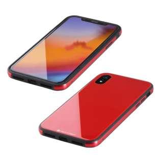 iPhone XR 6.1インチ用  ガラス+TPU+アルミ複合素材ケース レッド BKS-IP18MTGGARD