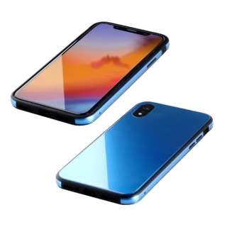 iPhone XR 6.1インチ用  ガラス+TPU+アルミ複合素材ケース サーフブルー BKS-IP18MTGGABU