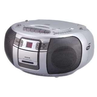 SAD-4943 CDラジオ シルバー [ワイドFM対応 /CDラジカセ]