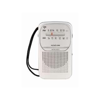 携帯ラジオ シルバー SAD-7226 [AM/FM /ワイドFM対応]