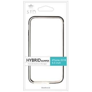 iPhone XS Max 6.5インチ対応 ハイブリッド+アルミニウムバンパー ブラック OWL-CVIA6514-BK