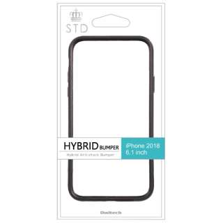 iPhone XS Max 6.5インチ対応 ハイブリッドバンパー ブラック OWL-CVIA6515-BK
