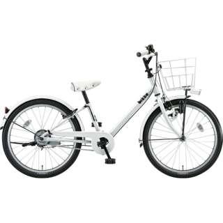 22型 子供用自転車 bikke j(ホワイト×シングル/シングルシフト)BK22VJ【2019年モデル】 【組立商品につき返品不可】