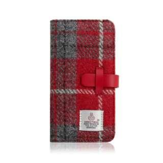 iPhone XR 6.1 Harris Tweed Diary レッド×グレー