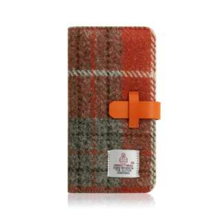 iPhone XR 6.1 Harris Tweed Diary オレンジ×グレー