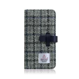 iPhone XR 6.1 Harris Tweed Diary グレー×ネイビー