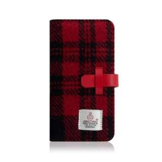 iPhone XR 6.1 Harris Tweed Diary レッド×ブラック