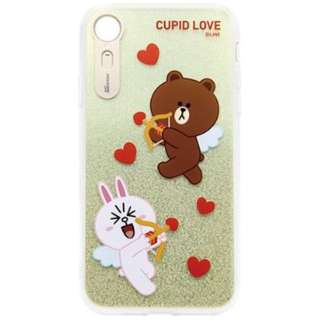 iPhone XR 6.1インチ用 LINE FRIENDS LIGHT UP CASE CUPID LOVE スウィートハート3 KCL-LCL011
