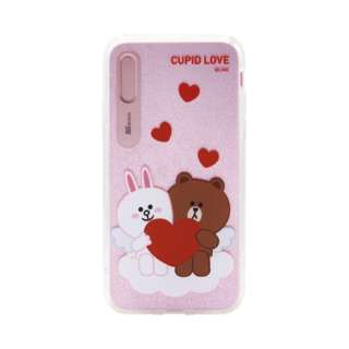 iPhone XS Max 6.5インチ用 LINE FRIENDS LIGHT UP CASE CUPID LOVE スウィートハート1 KCL-LCL017