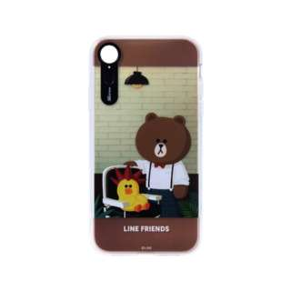 iPhone XR 6.1インチ用 LINE FRIENDS LIGHT UP CASE THEMA ヘアドレッサー KCL-LCT008
