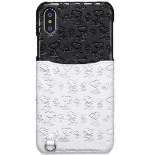 iPhone XS 5.8インチ用 ポケットケース スヌーピー総柄