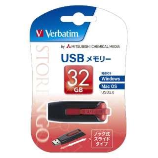 USBNV32GR-B USBメモリ レッド [32GB /USB2.0 /USB TypeA /スライド式]