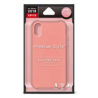 b05c5cf202 iPhone XS 5.8インチ用 シリコンケース ピンク PG-18XSC03PK ピンク