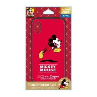 iPhone XR 6.1インチ用 ハイブリッドタフケース PG-D496MKY ミッキーマウス  レッド