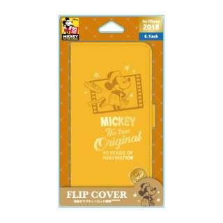 iPhone XR 6.1インチ用  フリップカバー ミッキーマウス オレンジ PG-DFP486M9O ミッキーマウス オレンジ