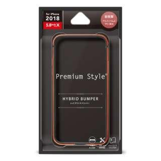 iPhone XS 5.8インチ用 アルミ+TPUハイブリッドバンパー レッド PG-18XBP08RD レッド