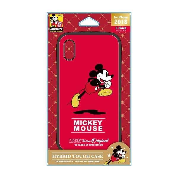 iPhone XS 5.8インチ用 ハイブリッドタフケース PG-DCS538M9R ミッキーマウス レッド