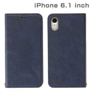 iPhone XR 6.1インチ用 インチ用専用CERTA ダイアリーケース(ネイビー) 276-897638