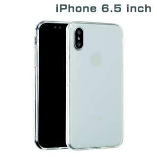 iPhone XS Max 6.5インチ専用サイドカラードクリアハイブリッドケース(クリア) 276-897720