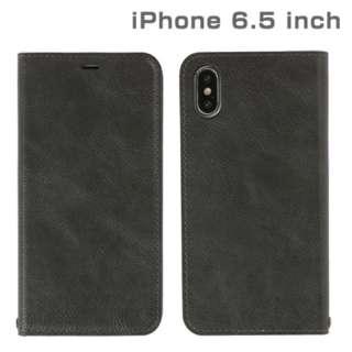 iPhone XS Max 6.5インチ専用CERTA ダイアリーケース(チャコールブラック) 276-897904