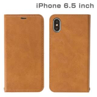 iPhone XS Max 6.5インチ専用CERTA ダイアリーケース(キャメル) 276-897911