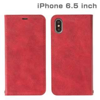 iPhone XS Max 6.5インチ専用CERTA ダイアリーケース(レッド) 276-897928