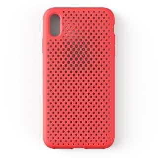 iPhone XS Max 6.5インチ専用AndMesh メッシュiPhone XS Max ケース(ブライトレッド) 612-958714