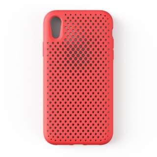 iPhone XR 6.1 インチ専用 AndMesh メッシュiPhone XRケース(ブライトレッド) 612-958721