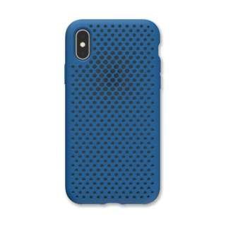 iPhone XS 5.8インチ専用 AndMesh メッシュiPhone XSケース(コバルトブルー) 612-958820